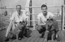 José Luis Benlliure Galán con su padre José Luis Mariano Benlliure, 1948-Foto Archivo FMB