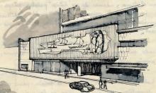 José Luis Benlliure Galán, Estudio para la fachada del Conjunto Aristos. Foro Archivo FMB