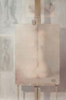 José Luis Benlliure Galán, Composición, óleo lienzo. Foto Archivo FMB