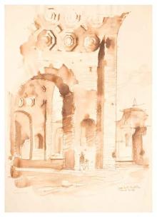 José Luis Benlliure Galán, Roma. Basilica de Majencio. Colección particular. Foto FMB