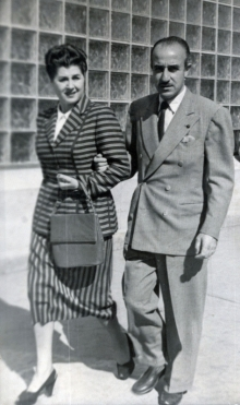 José Luis Mariano Benlliure y Soledad Galán. Foto Archivo FMB