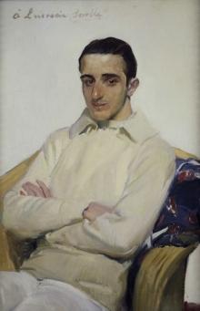 Joaquín Sorolla, Retrato de José Luis Mariano Benlliure Arana. Museo de Bellas Artes de Valencia