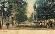 El monumento al marqués de Larios en la Alameda Principal de Málaga. Foto Archivo Fundación Mariano Benlliure