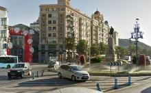 El monumento al marques de Larios actualmente. Foto googlemaps