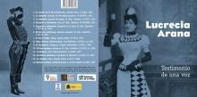 """Cubiertas del CD """"Lucrecia Arana. Testimonio de una voz"""". © AFMB"""