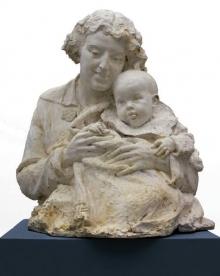 Mariano Benlliure, Lucrecia Arana con su hijo, 1898. Real Academia de Bellas Artes de Madrid. © RABASFM