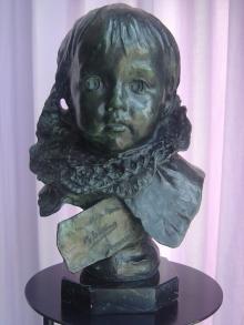 Copia del busto de María Benlliure Ortiz, bronce. Colección particular. © Fundación Mariano Benlliure