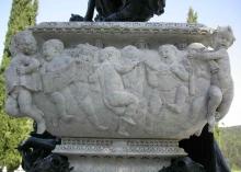Detalle del sarcófago, Mausoleo de Julián Gayarre. Foto Archivo Fundación Mariano Benlliure