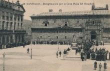 Monumento a Eugenio Montero Ríos en la plaza del Hospital de Santiago de Compostela. Foto Archivo Fundación Mariano Benlliure