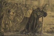Rendición de Granada, Detalle con los reyes Católicos. © Archivo Fundación Mariano Benlliure, Foto S. Mijangos
