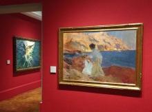 """Sorolla en París: """"Clotilde y Elena en las rocas"""" y """"El bote blanco"""", 1905. Foto Archivo Fundación Mariano Benlliure"""