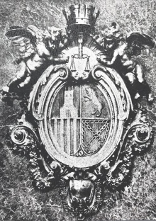 Medallón del Tribunal Supremo de Justicia, modificado a partir del original de Mariano Benlliure, con la corona mural,1931. Archivo Fundación Mariano Benlliure