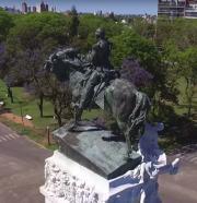 Mariano Benlliure, estatua del general Urquiza. Paraná, Argentina. Foto Oscar Di Liscia