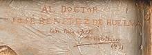 Mariano Benlliure, Visitar a los enfermos (detalle). Modelo en escayola. Foto Subastas Segre