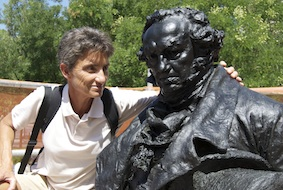 Visita durante la restauración del Mtº a Goya