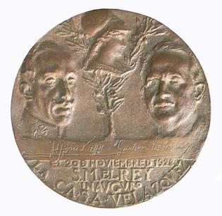 Medalla Inauguración Casa Velázquez 1