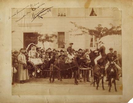 Cabalgata a Crevara en 1885